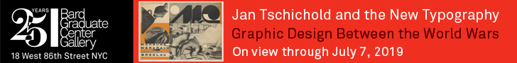 Jan Tschichold and the New Typography / Graphic Design Between the World Wars