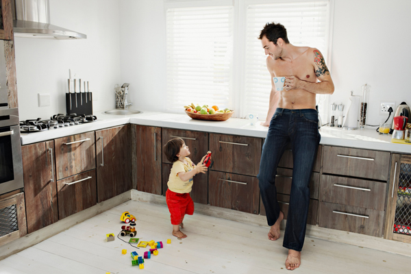 Father with son in Kitchen Image downloaded by John O'Reilly at 11:51 on the 16/10/14