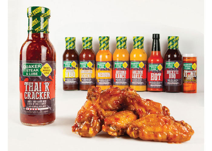 Sauce Labels by Quaker Steak & Lube® LUBEGIFTS.COM