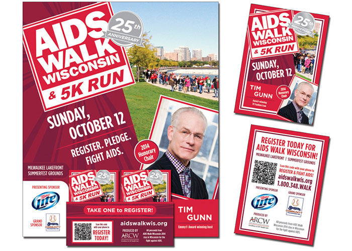 AIDS Walk Wisconsin 5K Run P-O-P and Trading Cards 2014 by AIDS Resource Center of Wisconsin (ARCW)