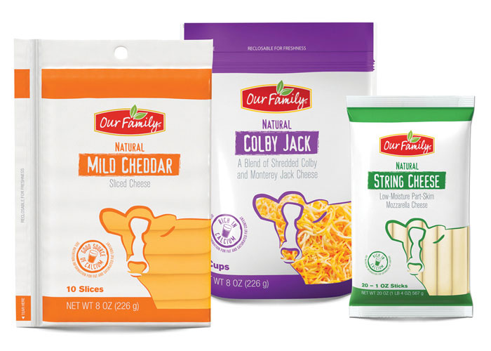 Our Family Cheese Package Redesign