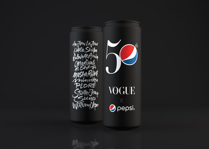 The Pulse of New Talent: 50th Vogue Pepsi Can by PepsiCo Design & Innovation and Vogue Italia