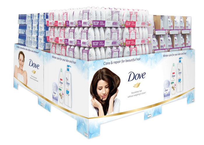 Dove Masterbrand Winter Pallet Display POD for Sam's Club 2014  by TFI Envision, Inc.