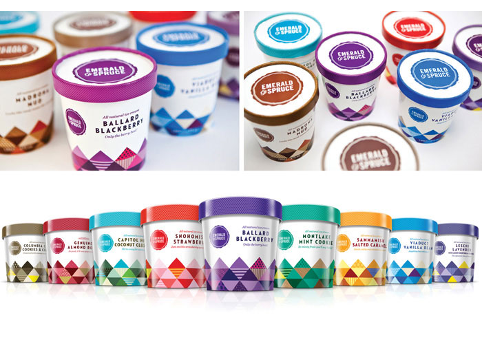 Emerald & Spruce Ice Cream Packaging