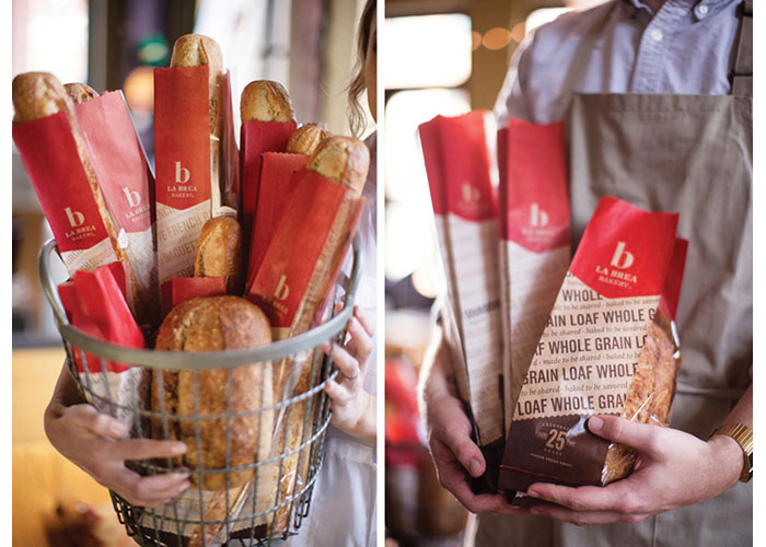 La Brea Bakery Packaging by Hornall Anderson