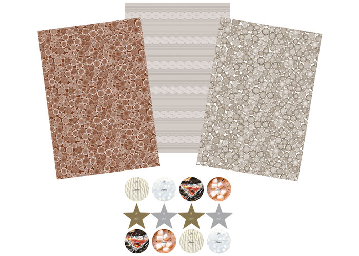2014 Holiday Gift Wrap Set by Print Craft Inc.
