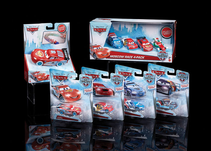 Cars Ice Racers Branding by Mattel