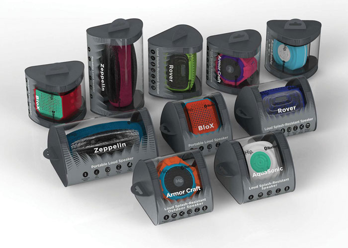 Bluetooth Speakers Packaging by Zeikos Inc.