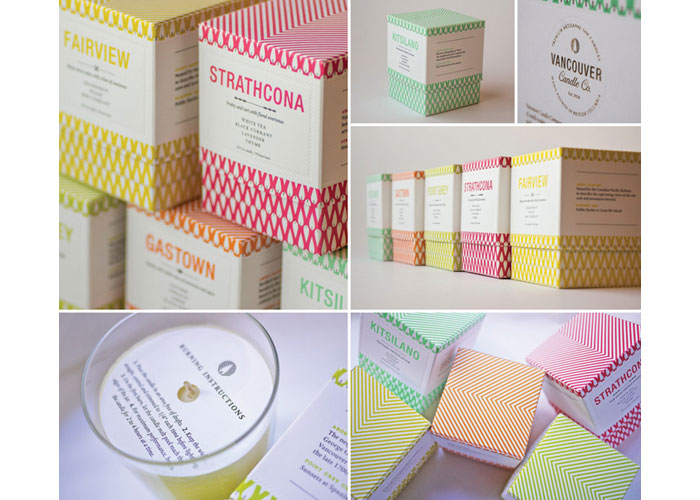 Premium Soy Candle Packaging and Branding by Porchlight Press Ltd. - Letterpress and Design