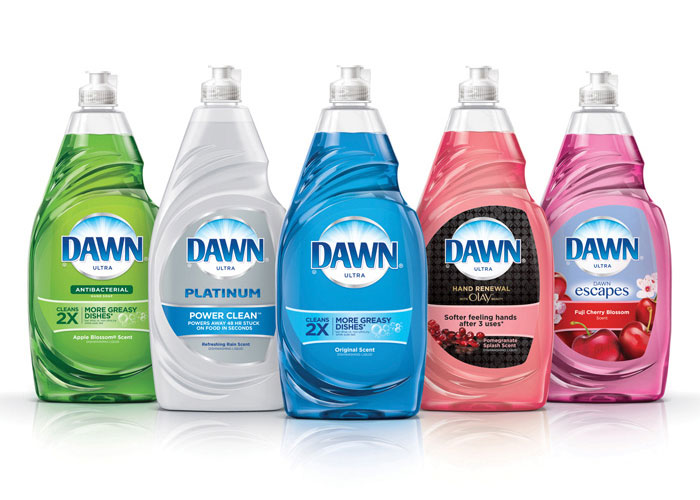 Dawn Dish Soap Range by Elmwood Design