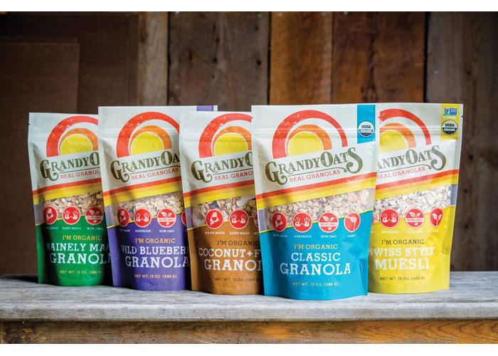 GrandyOats Granola Packaging by Pulp+Wire