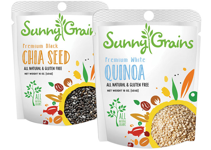 Sunny Grains Pouch Bags by Project 4