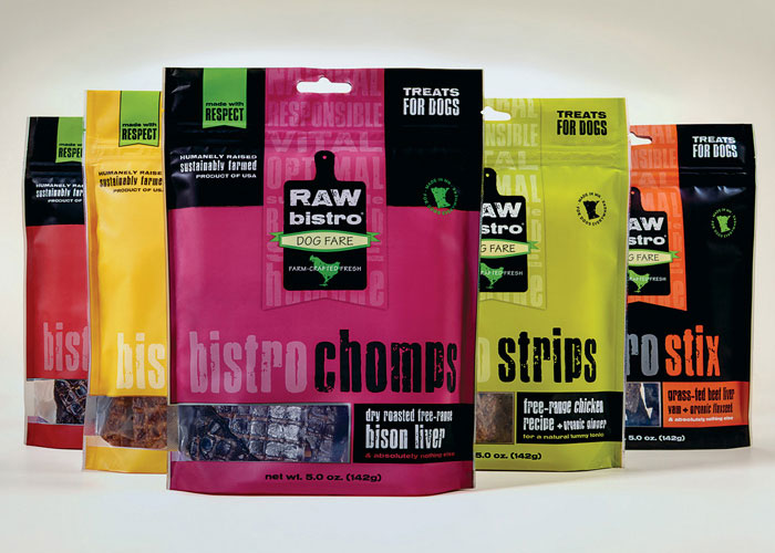 Raw Bistro Pet Fare Packaging by ThinkDesign Group
