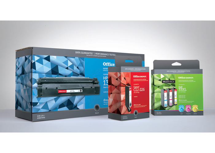 Office Depot Brand Ink & Toner Packaging