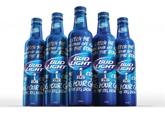 Bud Light Limited Edition Super Bowl Bottle  by Pearlfisher