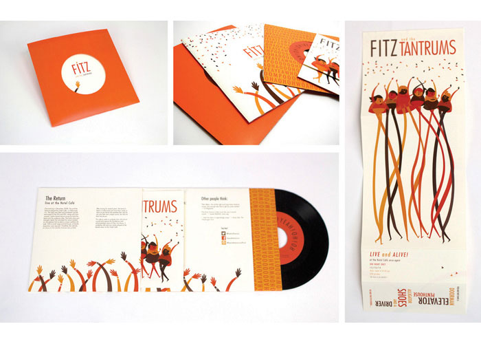 Fitz and the Tantrums Album Cover + Gig Poster by Auburn University, School of Industrial + Graphic Design