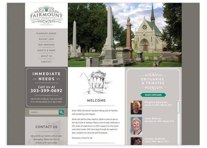 Fairmount Cemetery Website