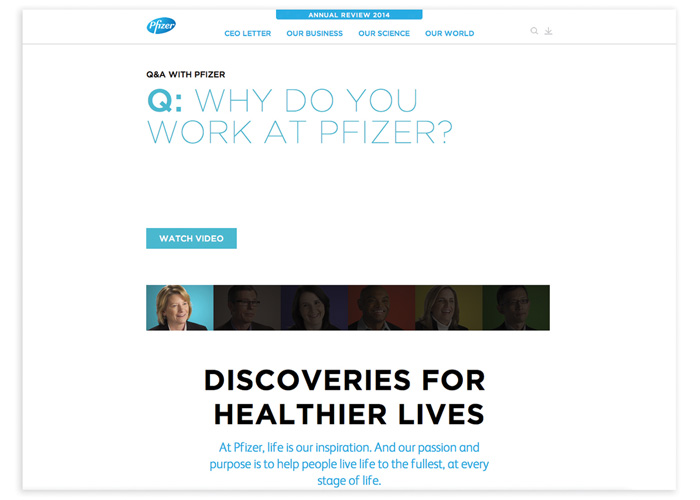 Pfizer 2014 Online Annual Review