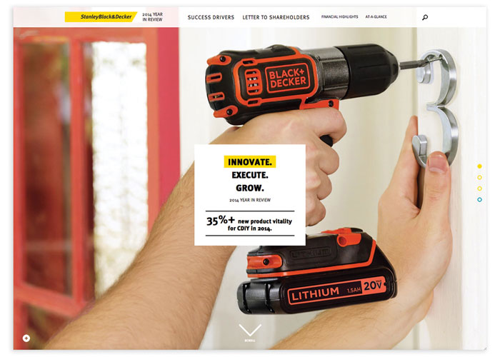 Stanley Black and Decker 2014 Online Year in Review