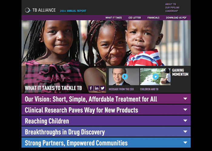2014 TB Alliance Online Annual Report