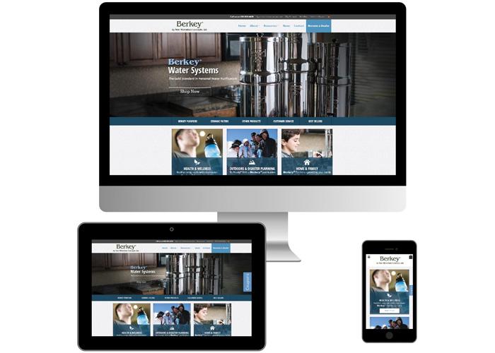 Berkey Water Website Design