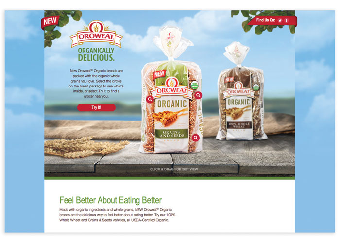 Oroweat® Organic USDA-Certified Organic Bread is Organically Delicious! Microsite