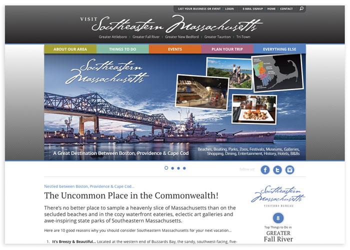 Southeastern Massachusetts Visitors Bureau Website