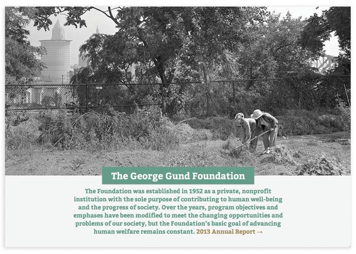 George Gund Foundation 2013 Annual Report Website