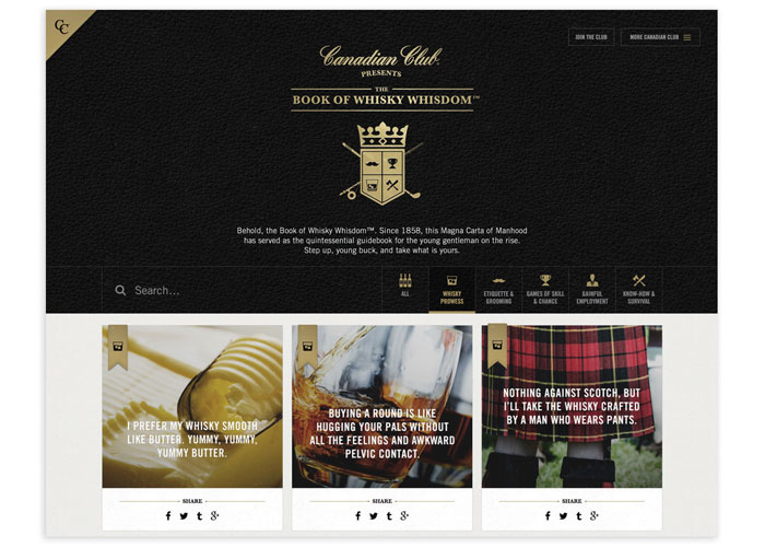 Canadian Club Book of Whisdom Microsite