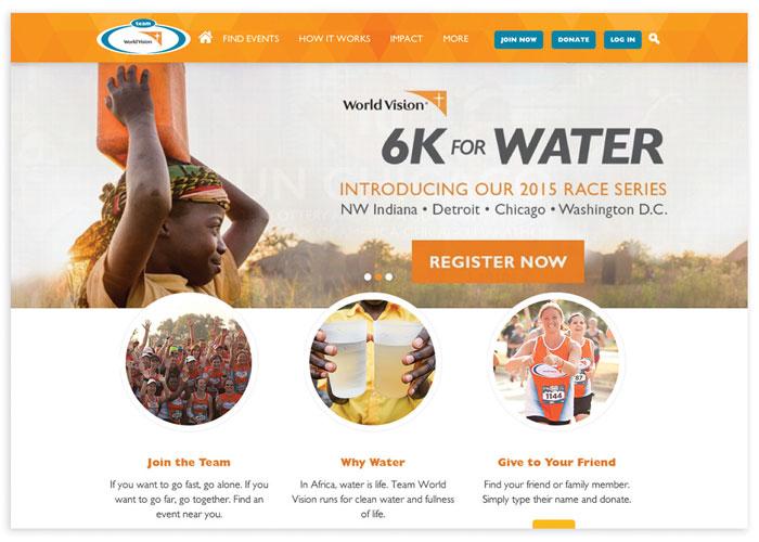 Team World Vision Website