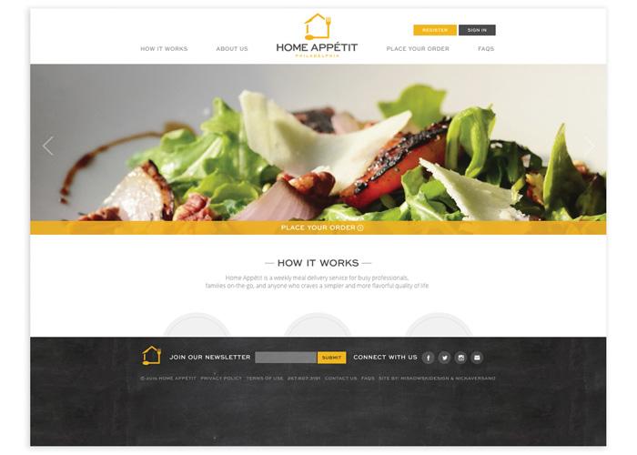 Home Appétit Philadelphia Website Design