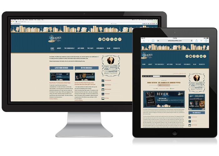 Art, Books & Coffee Website and Blog