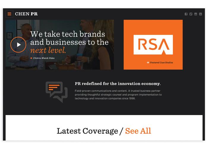 Chen PR Website Design