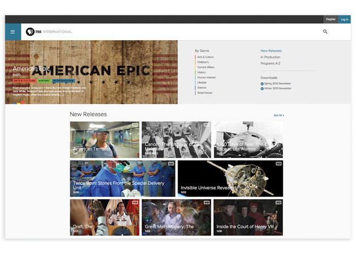 PBS International Website Design