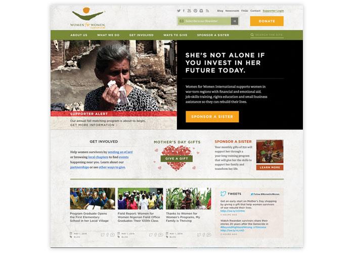 Women for Women International Website Redesign