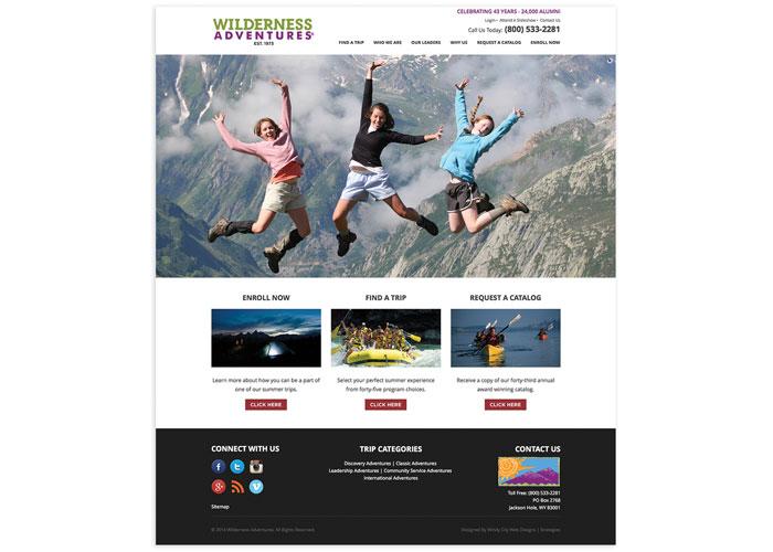 Wilderness Adventures Website