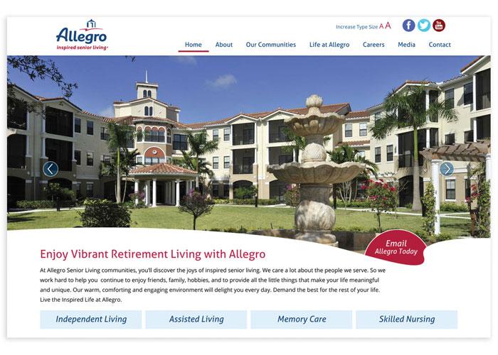 Allegro Senior Living Website