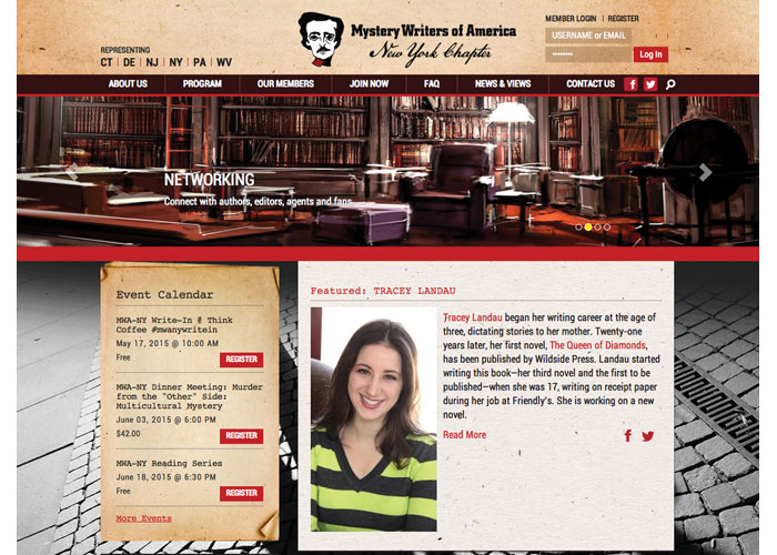 Mystery Writers of America - New York Chapter Website