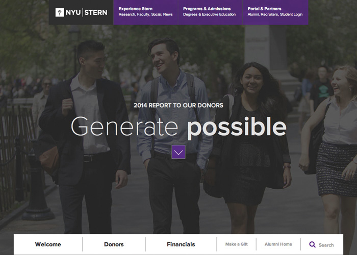 NYU Stern - Report to Donors