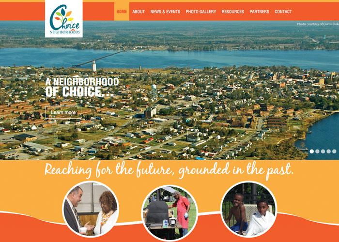 Choice Neighborhoods Initiative Website Design