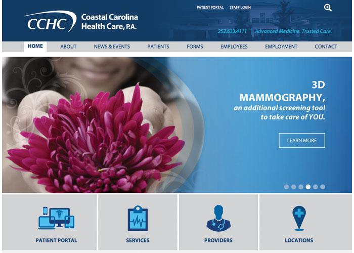 Coastal Carolina Health Care Website Design