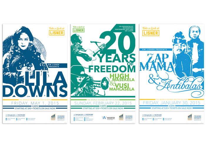 Lisner Auditorium 14-15 Season Posters