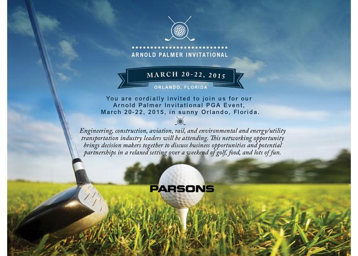 Parsons Arnold Palmer PGA Event Evite