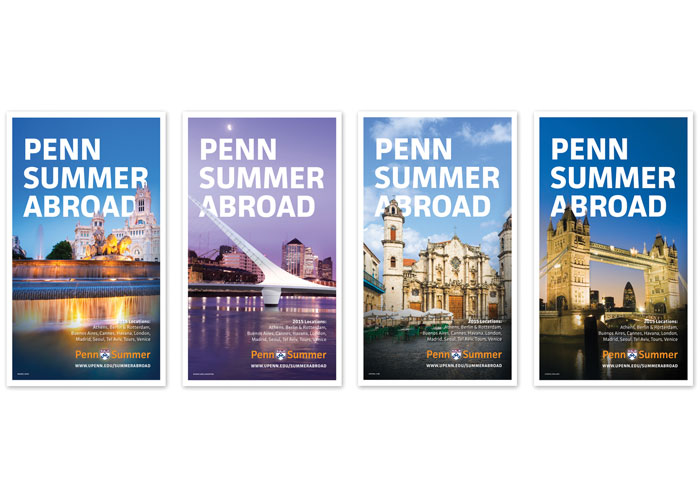 Penn Summer Abroad Posters