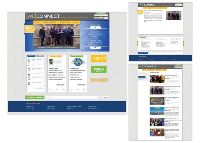 WEconnect Intranet Design