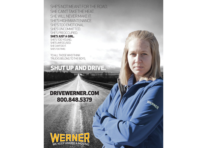 Women In Trucking Advertisement