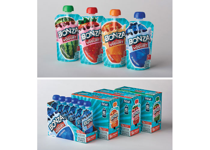 Bonza Kids Yogurt Packaging