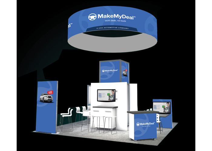 Make My Deal NADA Booth Design