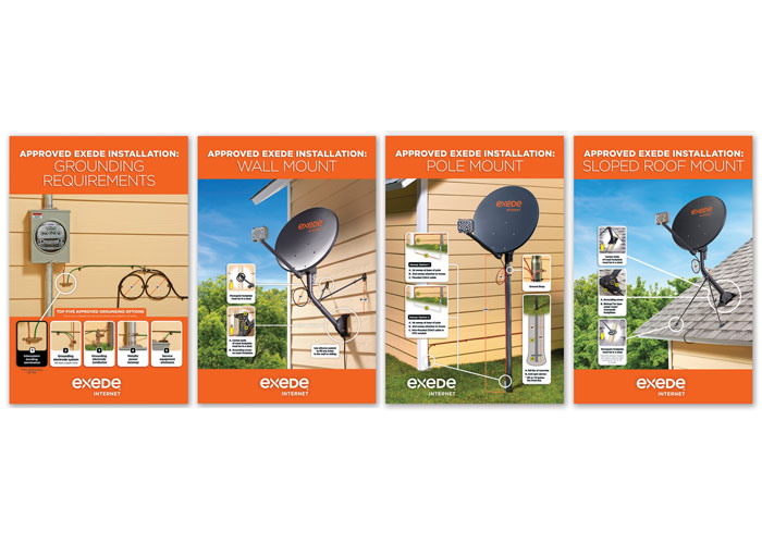 Exede Installation Guidelines Posters