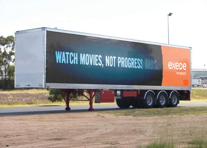 Exede Paint The Town Orange Trailer Billboard